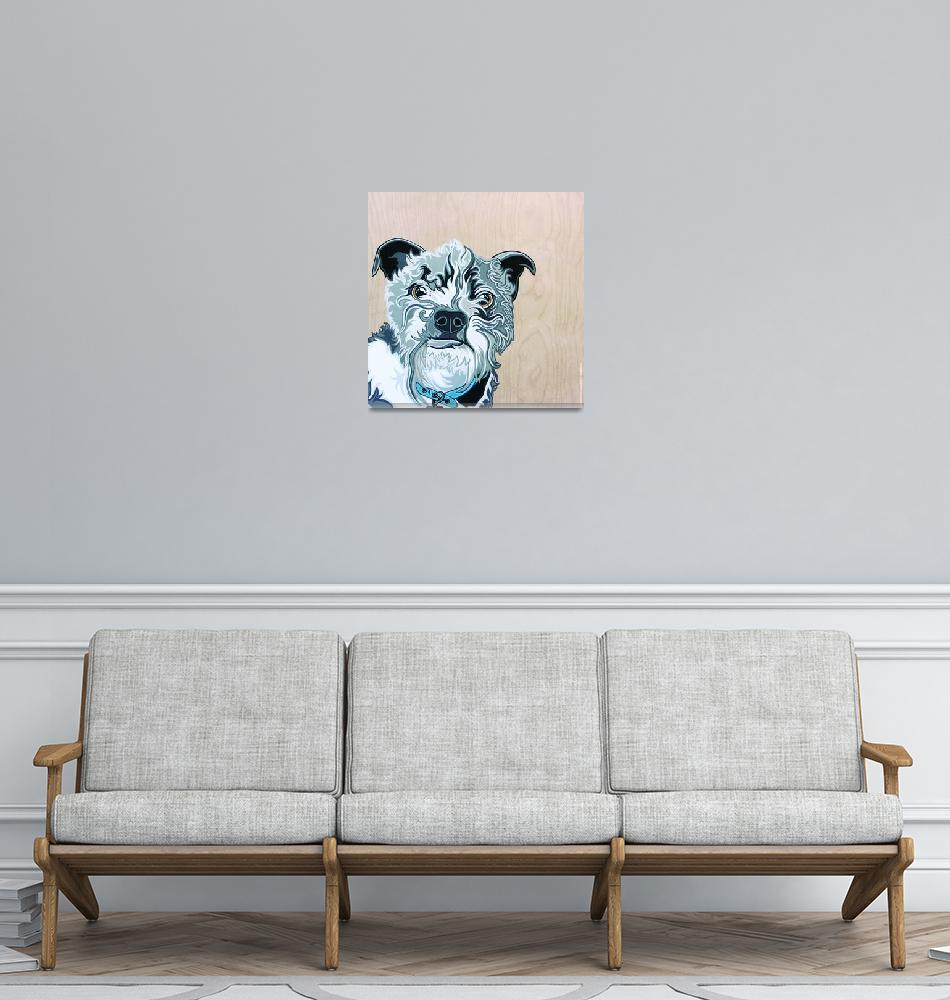 """""""Albert the Terrier Mix Dog Portrait""""  (2015) by VeganMe"""