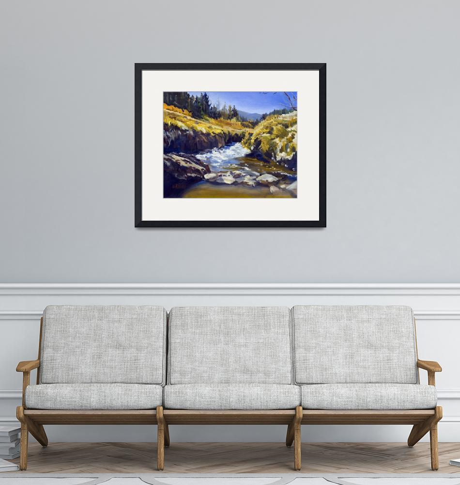 """Warren Keating CALIFORNIA MOUNTAINS Fine Art Print""  (2005) by KeatingArt"