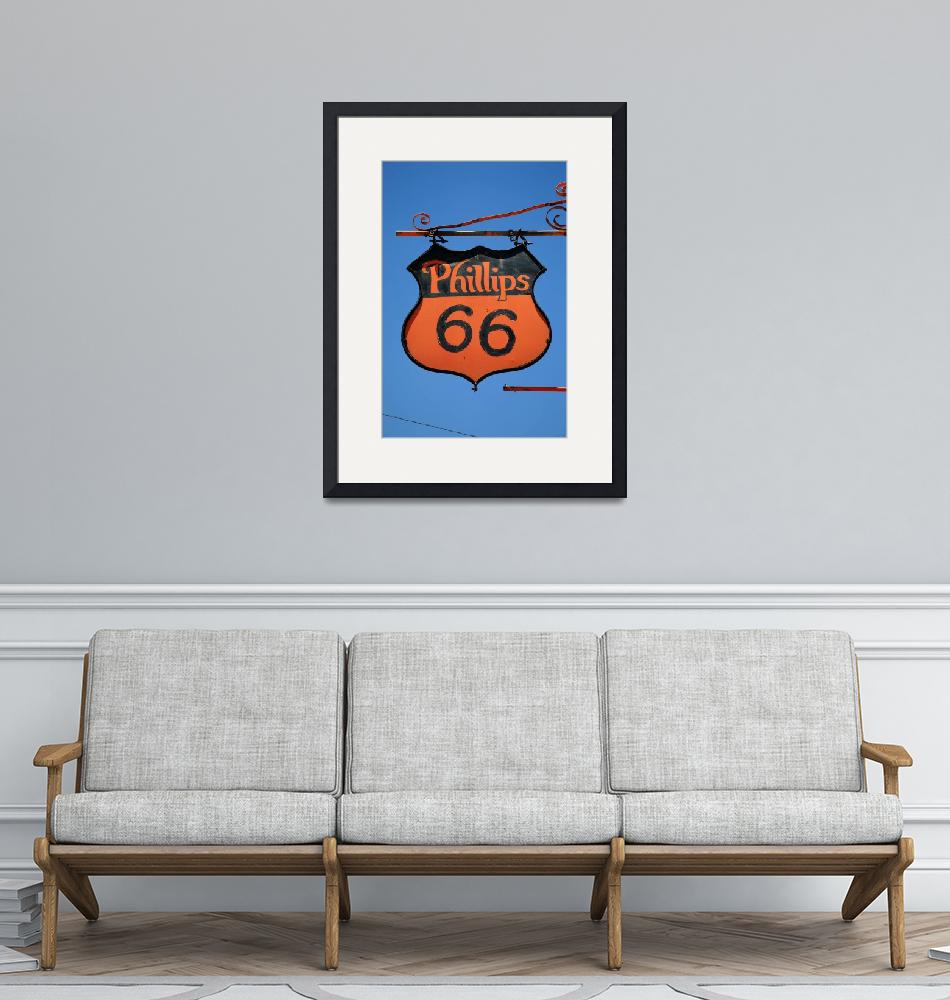"""""""Route 66 - Phillips 66 Gas Station 2012 #3""""  (2012) by Ffooter"""