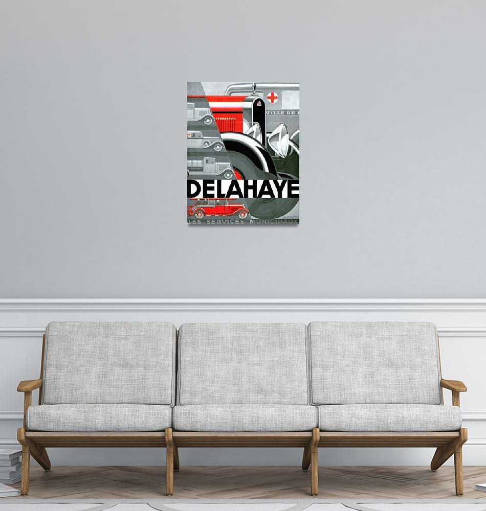 """Delahaye ~ Vintage Automobile Advertisement""  by Johnny-Bismark"