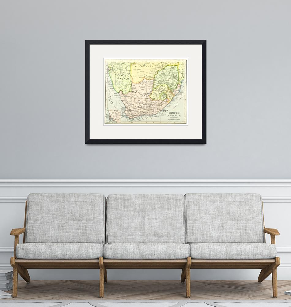 """""""Vintage Map of South Africa (1899)""""  by Alleycatshirts"""