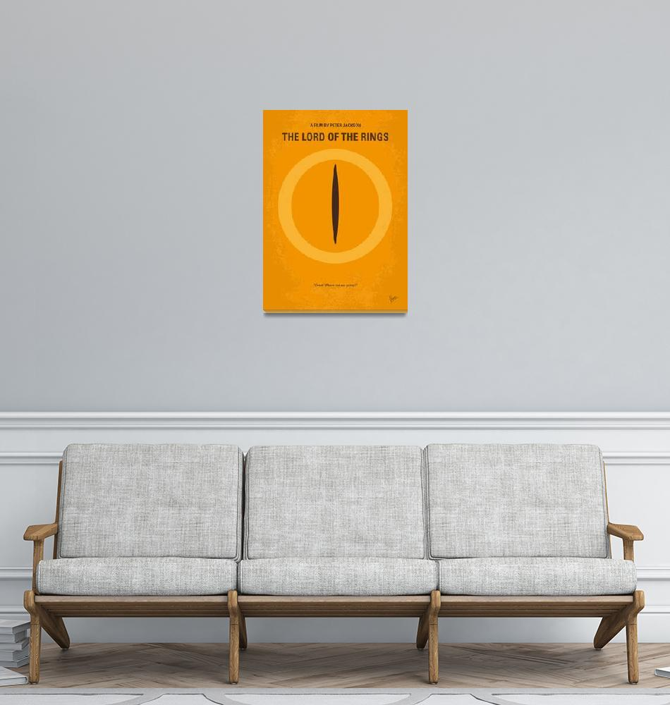 """""""No039 My Lord of the Rings minimal movie poster""""  by Chungkong"""