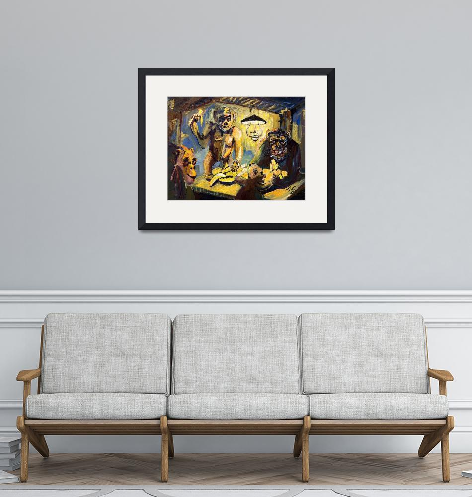 """""""The Banana Eaters After VanGogh  Oil Painting by G""""  (2005) by GinetteCallaway"""