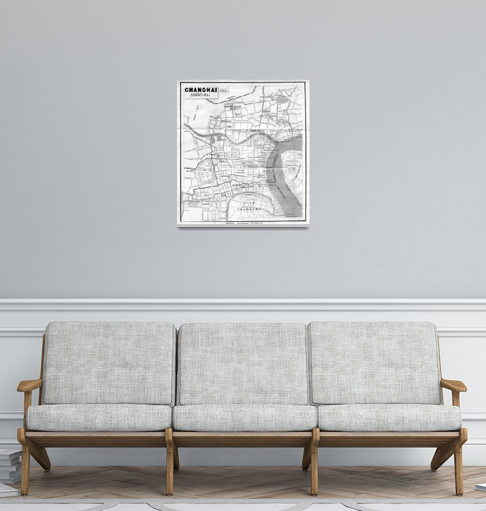 """""""Vintage Map of Shanghai China (1912)""""  by Alleycatshirts"""