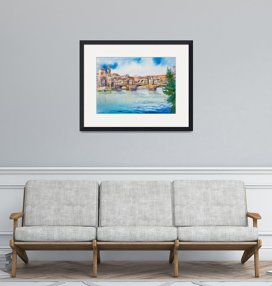 """""""Ponte Vecchio""""  by WillyDaleArt"""