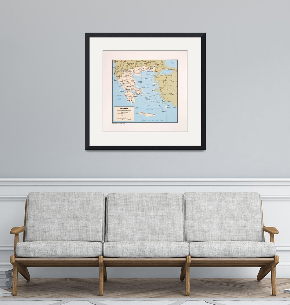 """""""Map of Greece (1984)""""  (1984) by ArtHistory"""