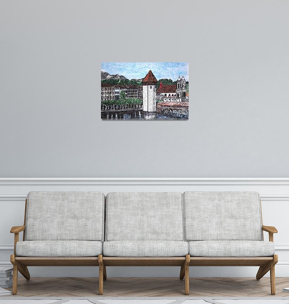 """Lucerne, Switzerland.""  (2009) by Countryswiss"