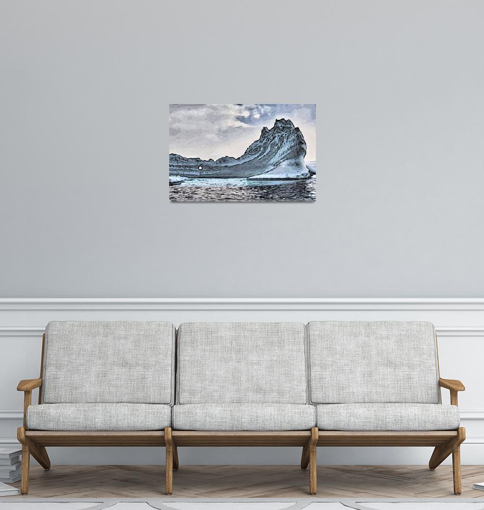 """Icebergs near the Antarctic Peninsula.""  (2012) by WallArtDeco"