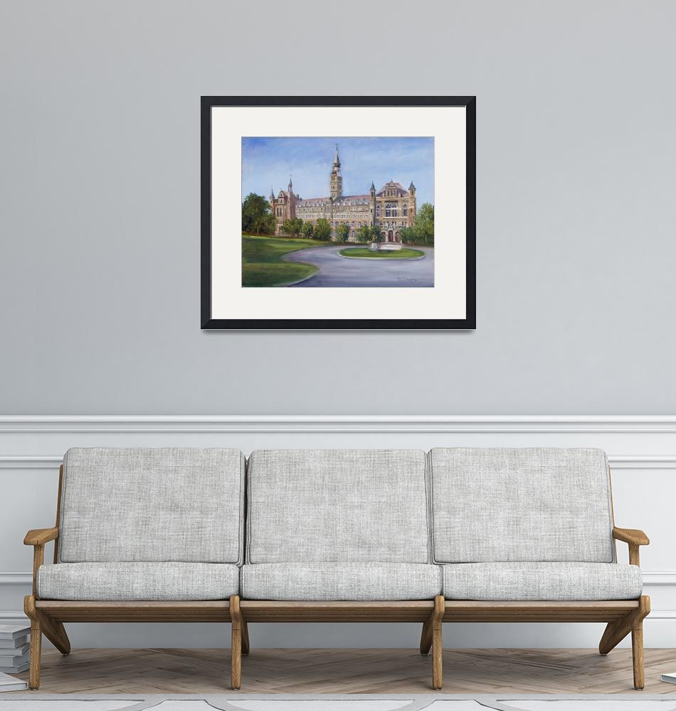 """""""Healy Building at Georgetown University""""  (2010) by JaneCoonce"""