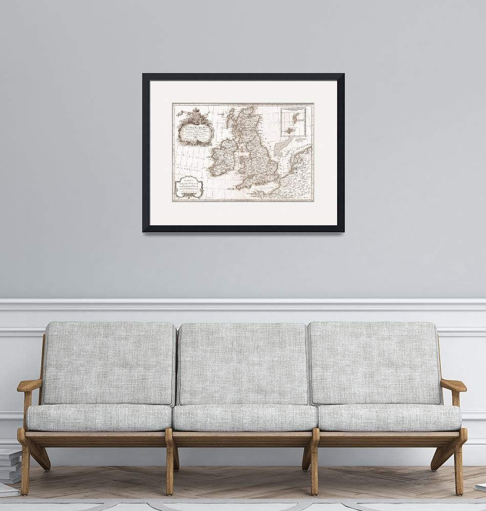 """Eighteenth Century Britain Map""  by TammyWinandPhotography"