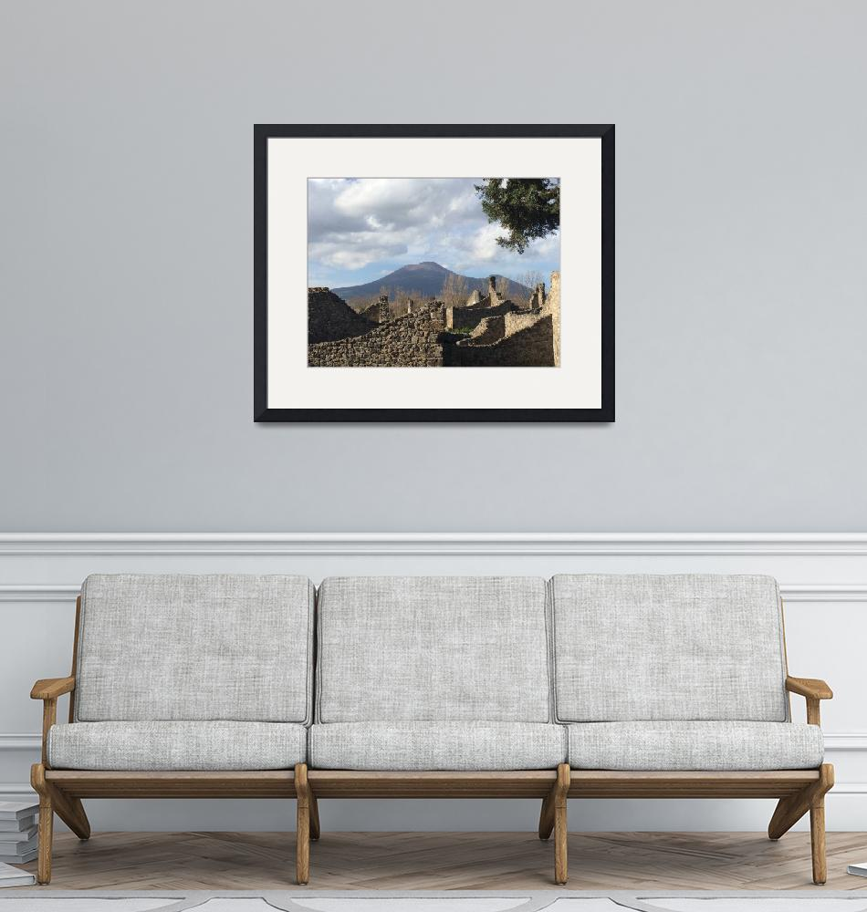 """""""Vesuvius from Pompeii""""  (2016) by SMStegall"""