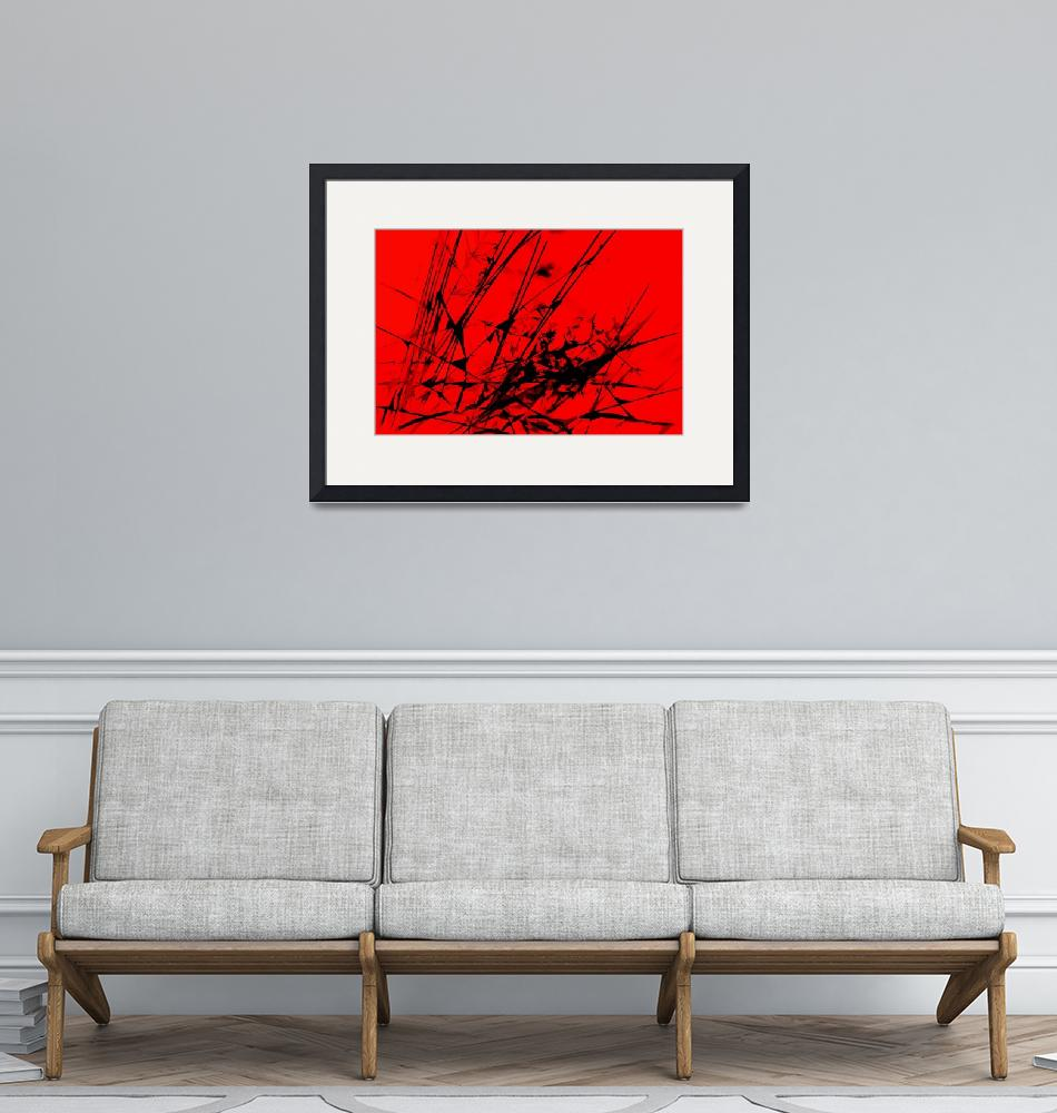 """""""Strike Out Red and Black Abstract""""  (2012) by NatalieKinnear"""