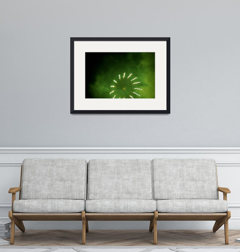 """""""Green Firework Abstract""""  by mildlydiverting"""