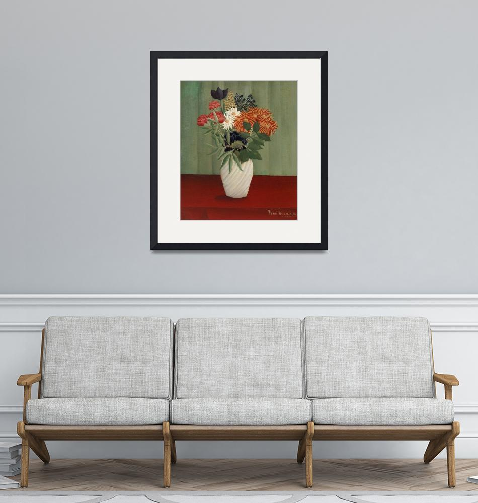 """""""Bouquet of Chinese Asters and Tokyos by Rousseau""""  by FineArtClassics"""