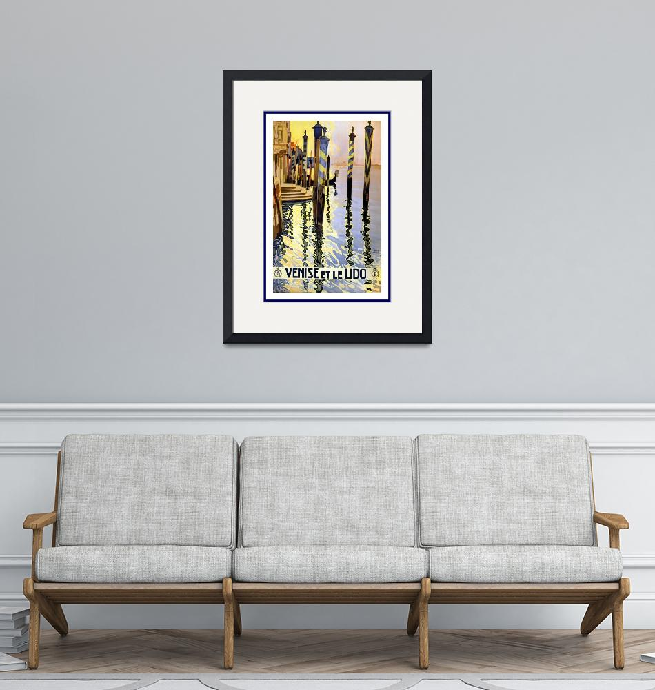 """""""Venice Vintage Travel Poster""""  by shanmaree"""