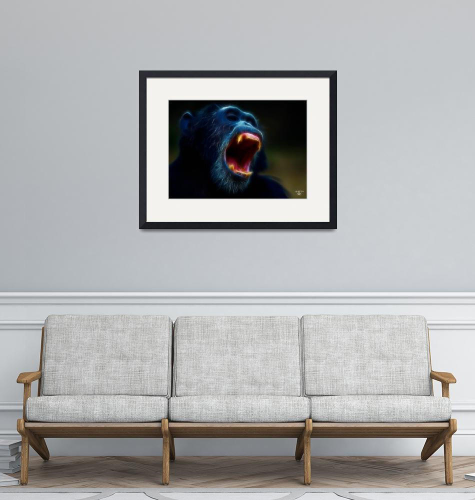 """""""Angry Chimp""""  (2009) by Spyder13x085"""
