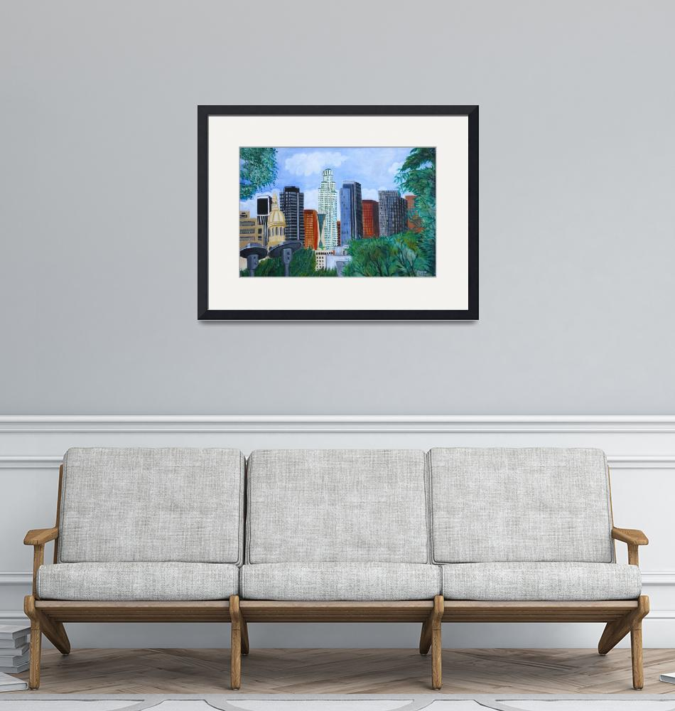 """""""L.A. Downtown from Kyoto""""  by Studio526"""