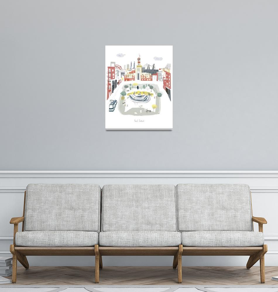 """""""Pearl District Portland Modern Cityscape""""  by AlbieDesigns"""
