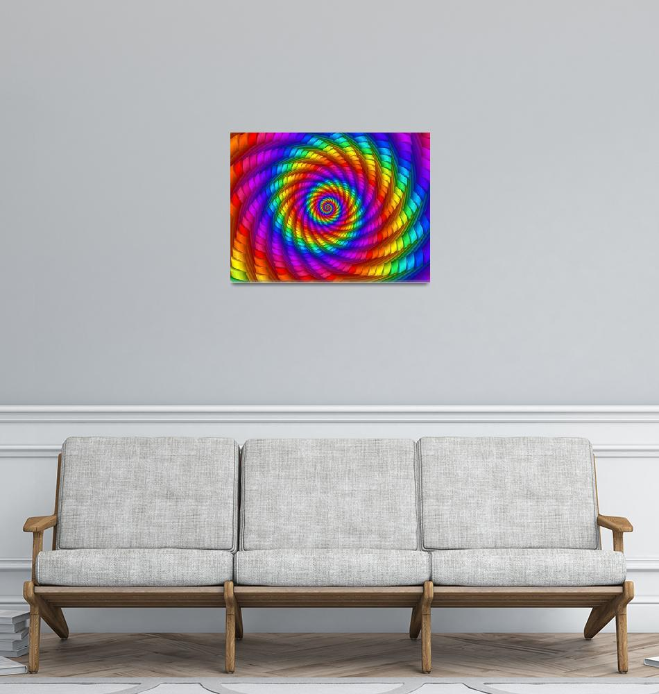 """Psychedelic Rainbow Spiral""  (2014) by kittybitty"