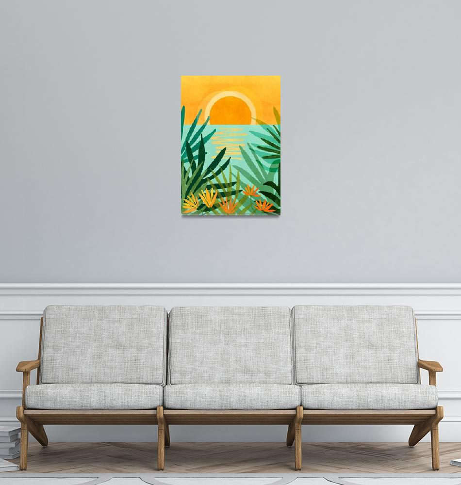"""Peaceful Tropics""  (2020) by moderntropical"
