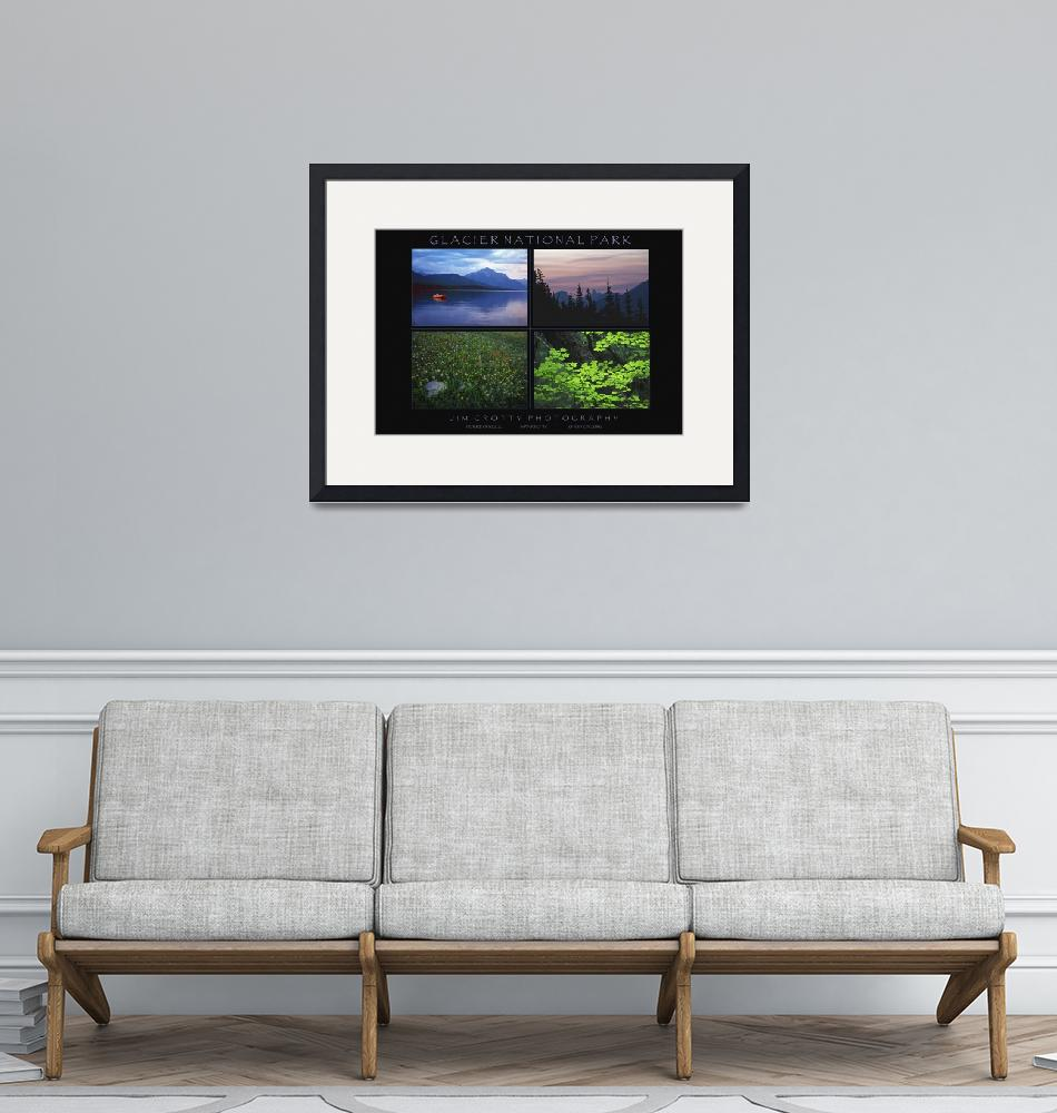"""Glacier National Park Poster Print by Jim Crotty""  (2009) by jimcrotty"