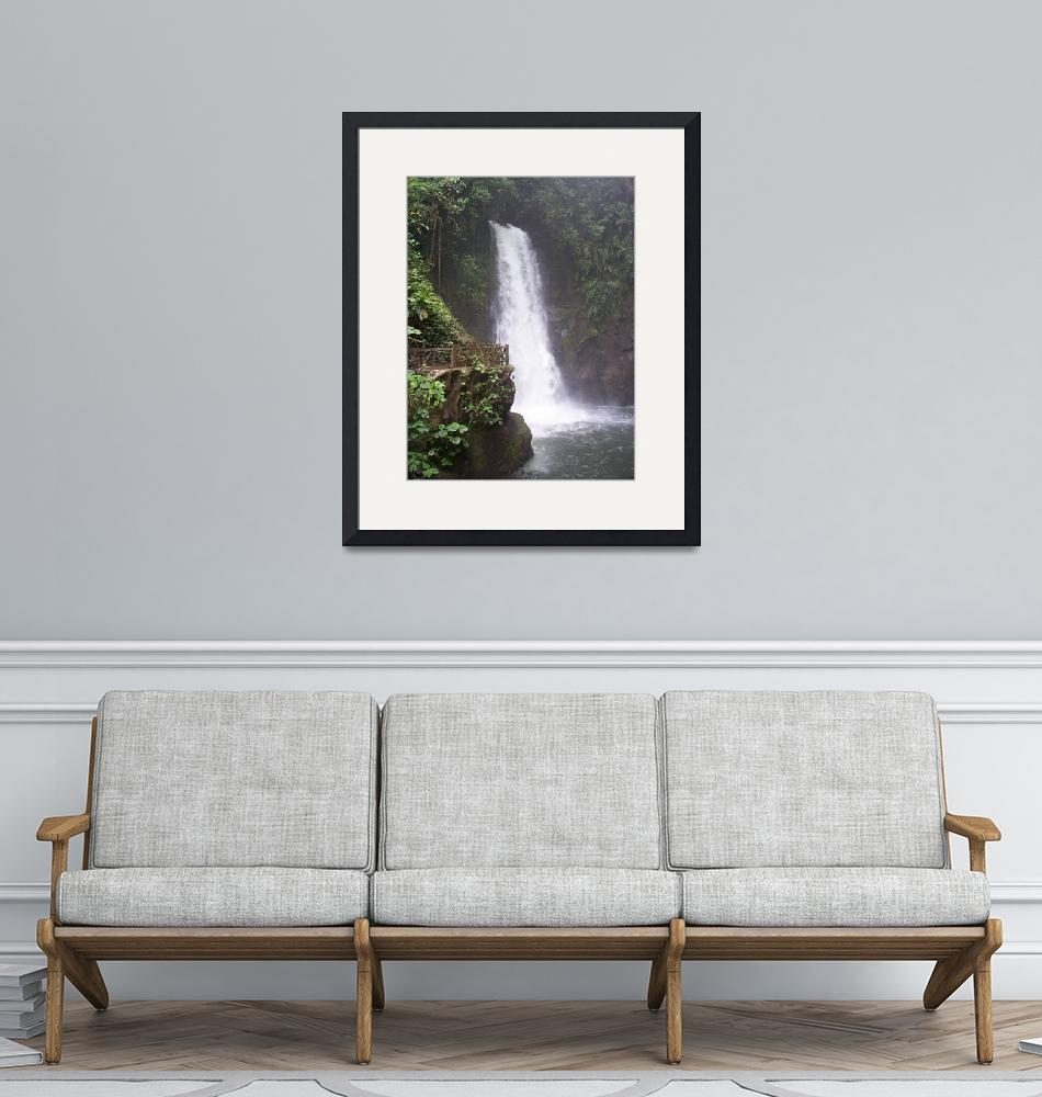 """Rain Forest Waterfall""  (2007) by TIMEKEEPER"