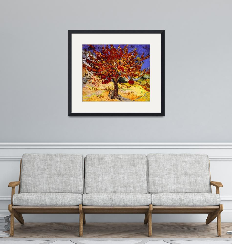 """""""Vincent Van Gogh Mulberry Tree Painting""""  by masterpiecesofart"""