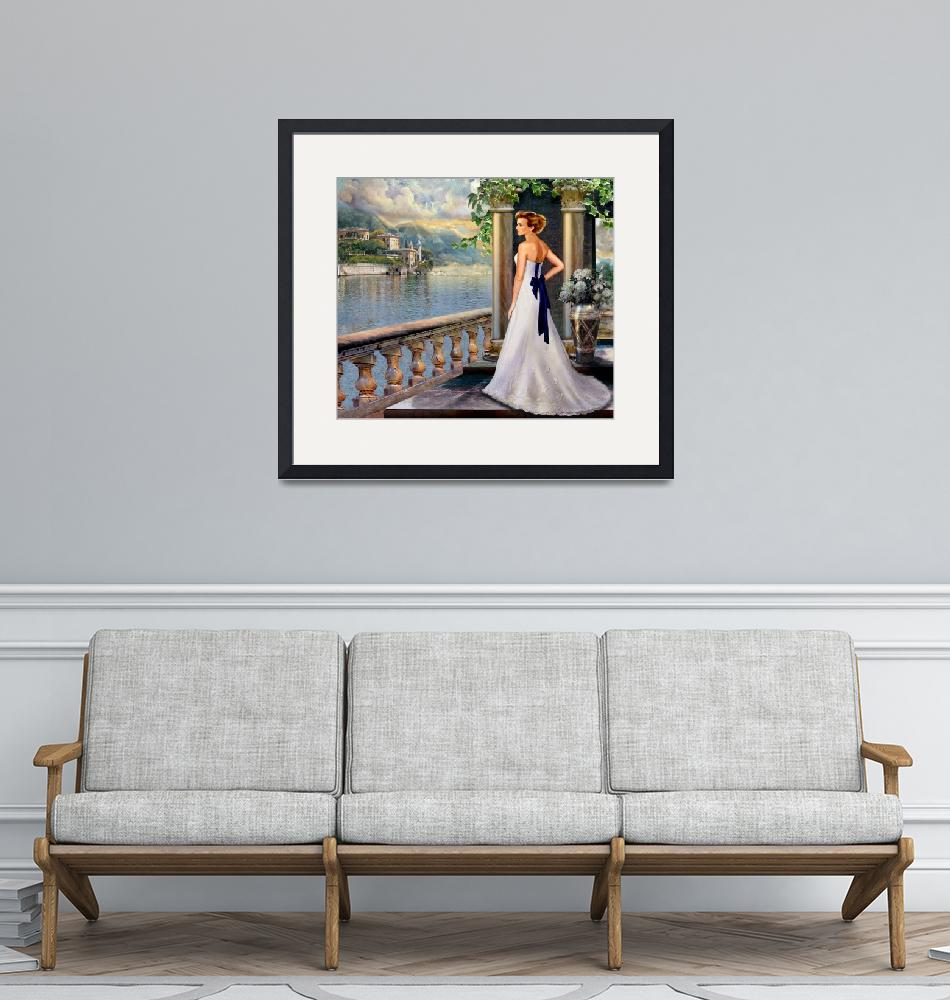 """Lady overlooking lake Como Italy""  (2013) by Unique_designs"