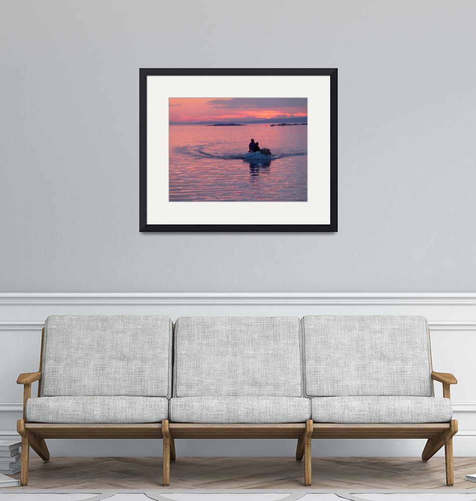 """""""dingy in sunset""""  by ninafuller"""