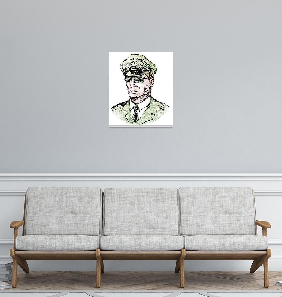 """""""Portrait of a general with sunglasses""""  (2013) by patrimonio"""