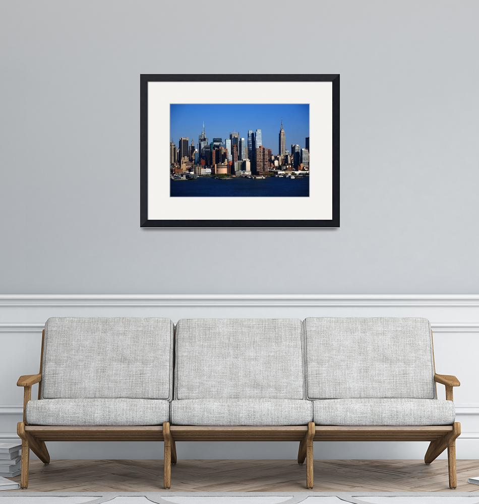 """""""New York City Skyline 11""""  (2012) by Ffooter"""