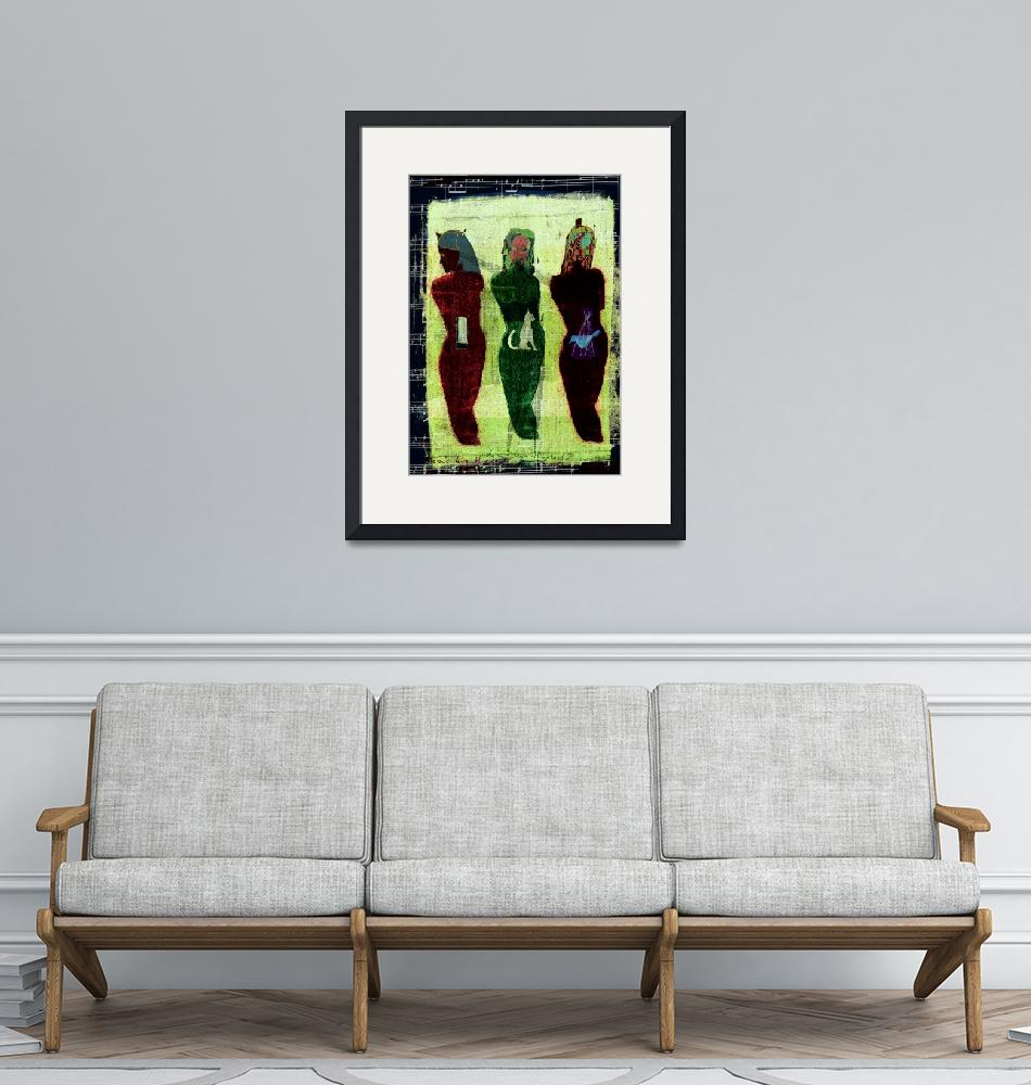 """""""les  3 muses""""  (2010) by fredericlevy-hadida"""