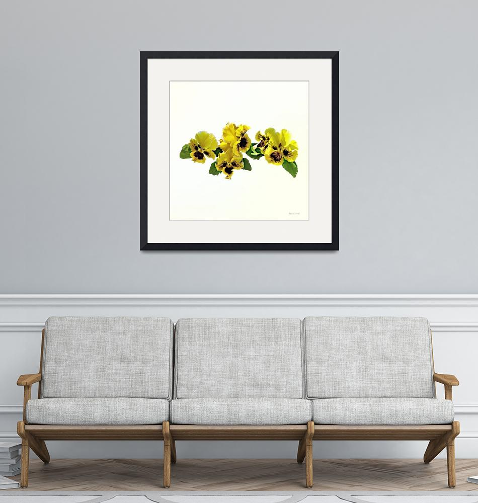 """""""Frilly Yellow Pansies""""  by susansartgallery"""