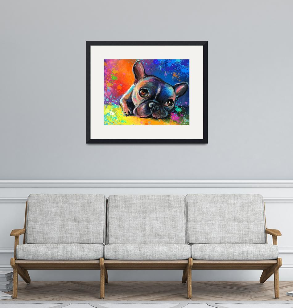 """Whimsical French Bulldog painting print""  by SvetlanaNovikova"
