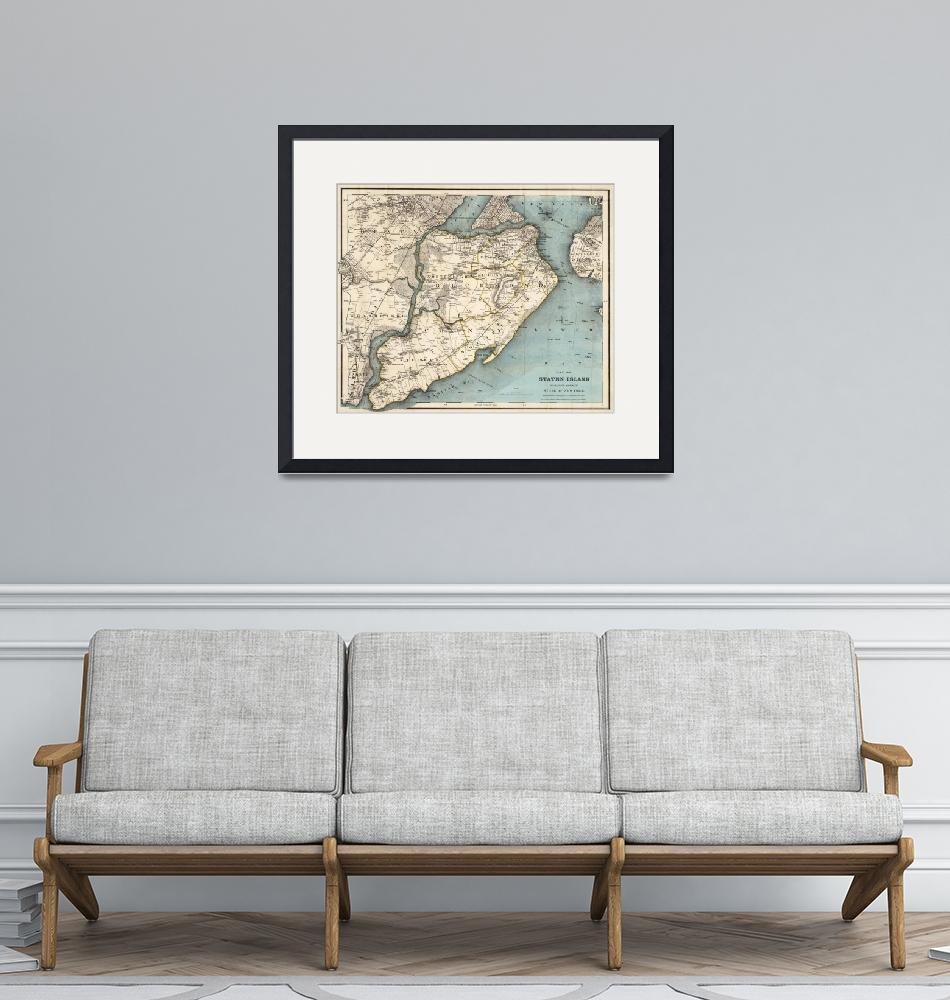 """Vintage Map of Staten Island NY (1896)""  by Alleycatshirts"