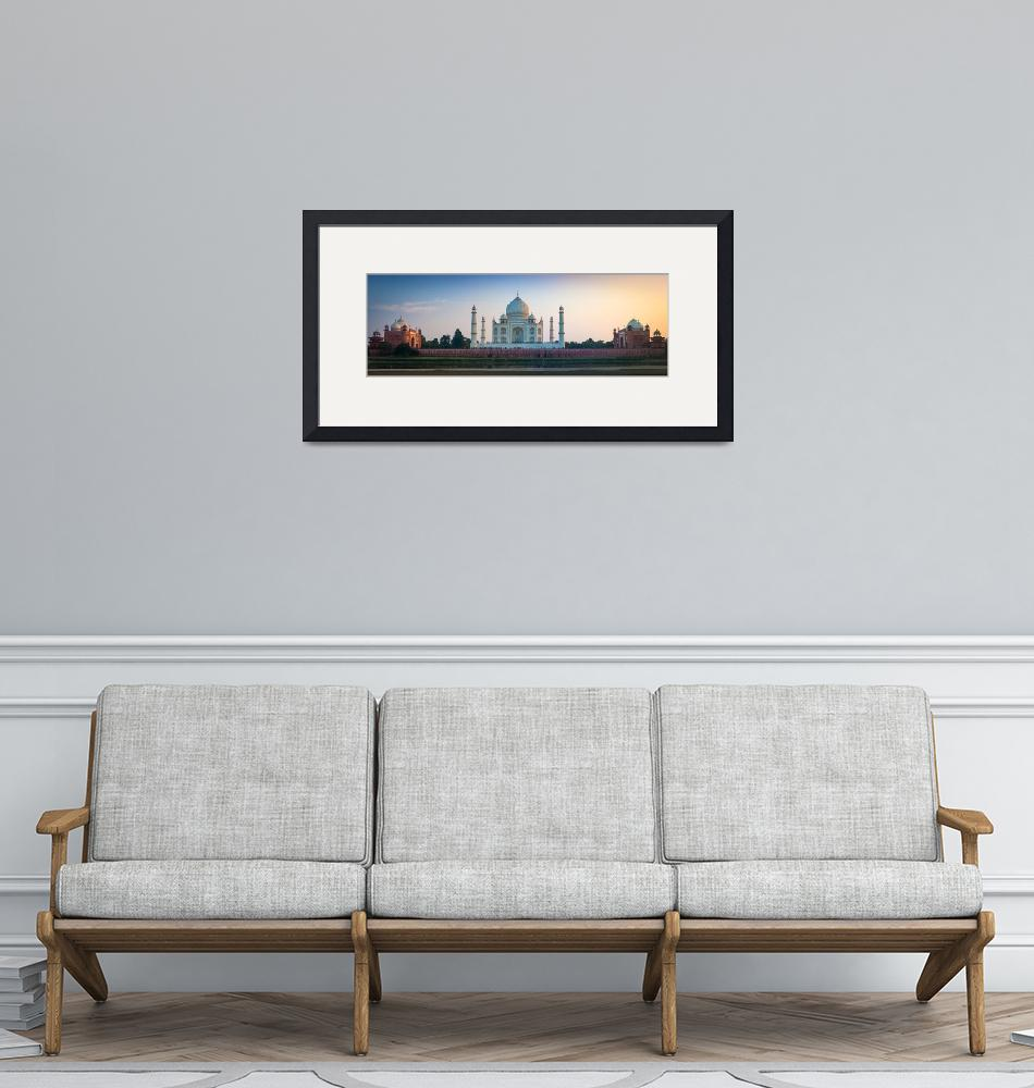 """Taj Mahal Panorama""  (2013) by Inge-Johnsson"