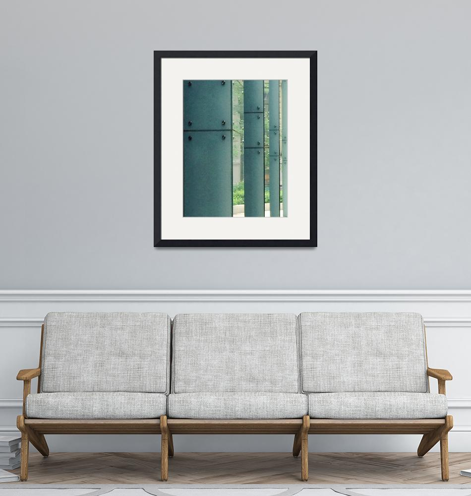 """""""Glass Columns"""" (2015) by windowreflections"""
