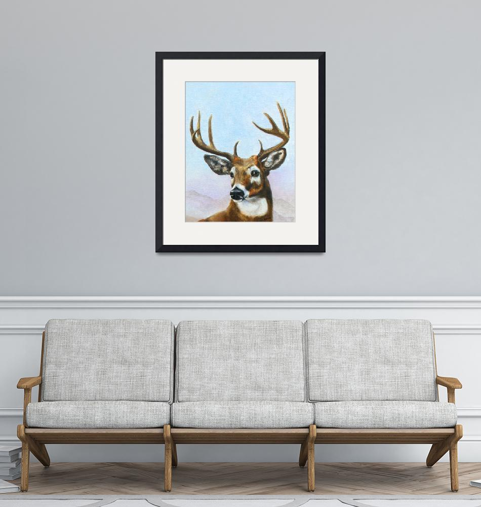 """Regal Stag- white tailed deer by Violano""  (2009) by stella"