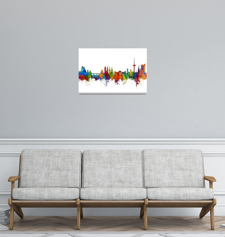 """Koblenz Germany Skyline""  (2018) by ModernArtPrints"