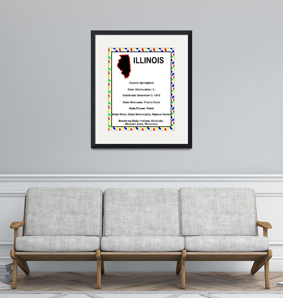 """""""Illinois Information Educational""""  (2015) by ValeriesGallery"""