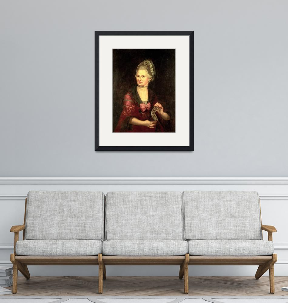"""Anna Maria Mozart, nee Pertl, mother of Wolfgang A""  by fineartmasters"