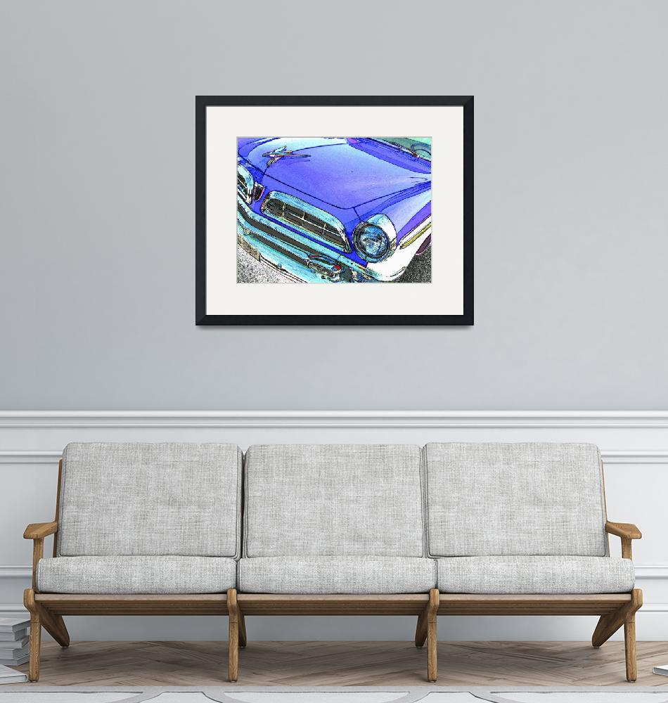"""""""1955 Chrysler New Yorker - Blue""""  (2007) by Automotography"""