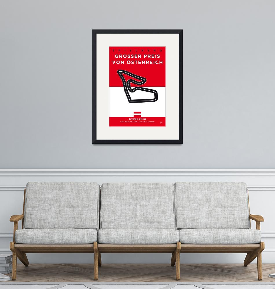 """""""My F1 Osterreichring Race Track Minimal Poster""""  by Chungkong"""