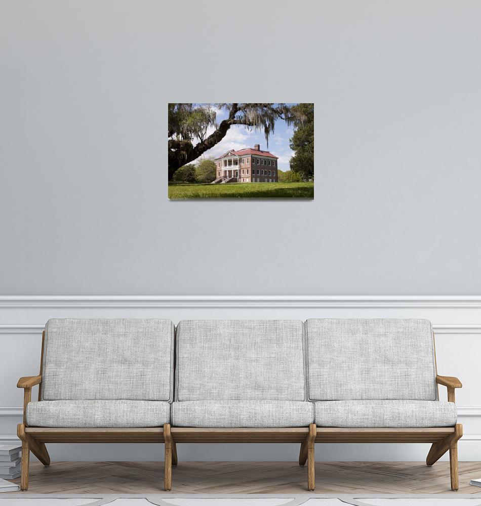 """Historic Drayton Hall Plantation House in Charlest""  (2010) by DustinKRyan"