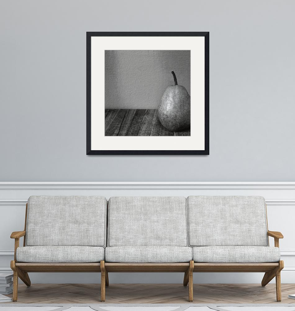 """""""Pear with Grey Wall"""" (2017) by Michelle1991"""