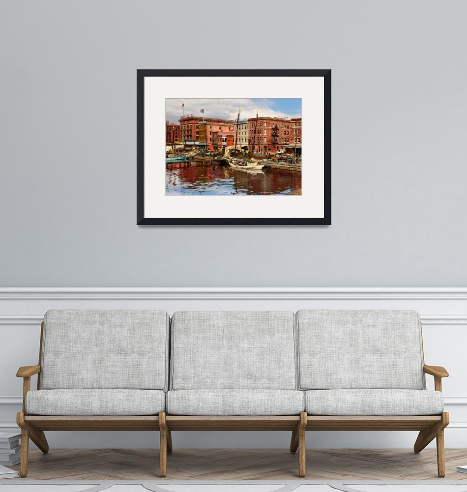 """""""City MD - Pratt St - Beer and More 1906 Left Half""""  by mikesavad"""