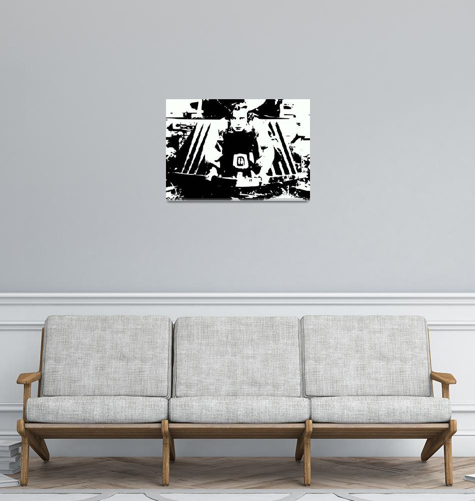 """Buster Keaton""  (2014) by Icarusismart"
