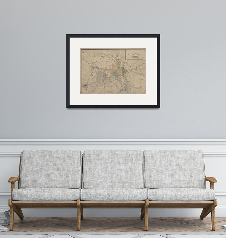 """""""Vintage Map of Mexico City (1847)""""  by Alleycatshirts"""