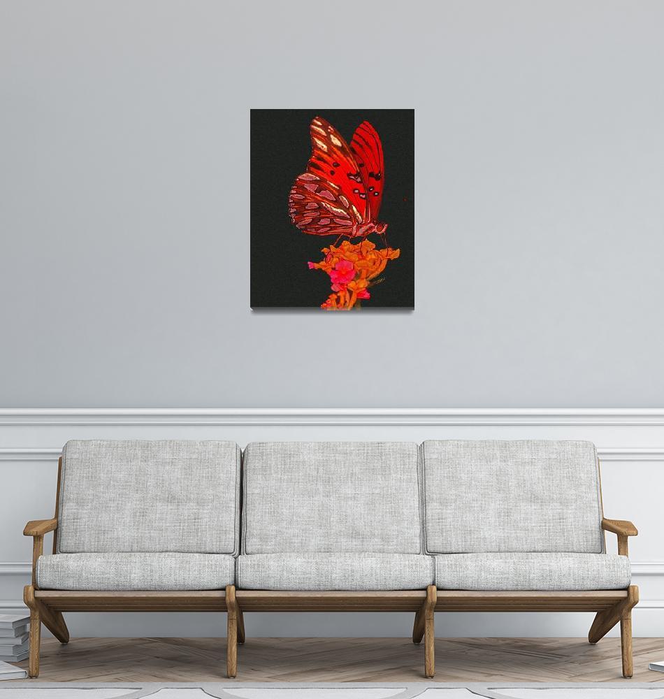 """Orange Butterfly""  (1995) by frankreggio"