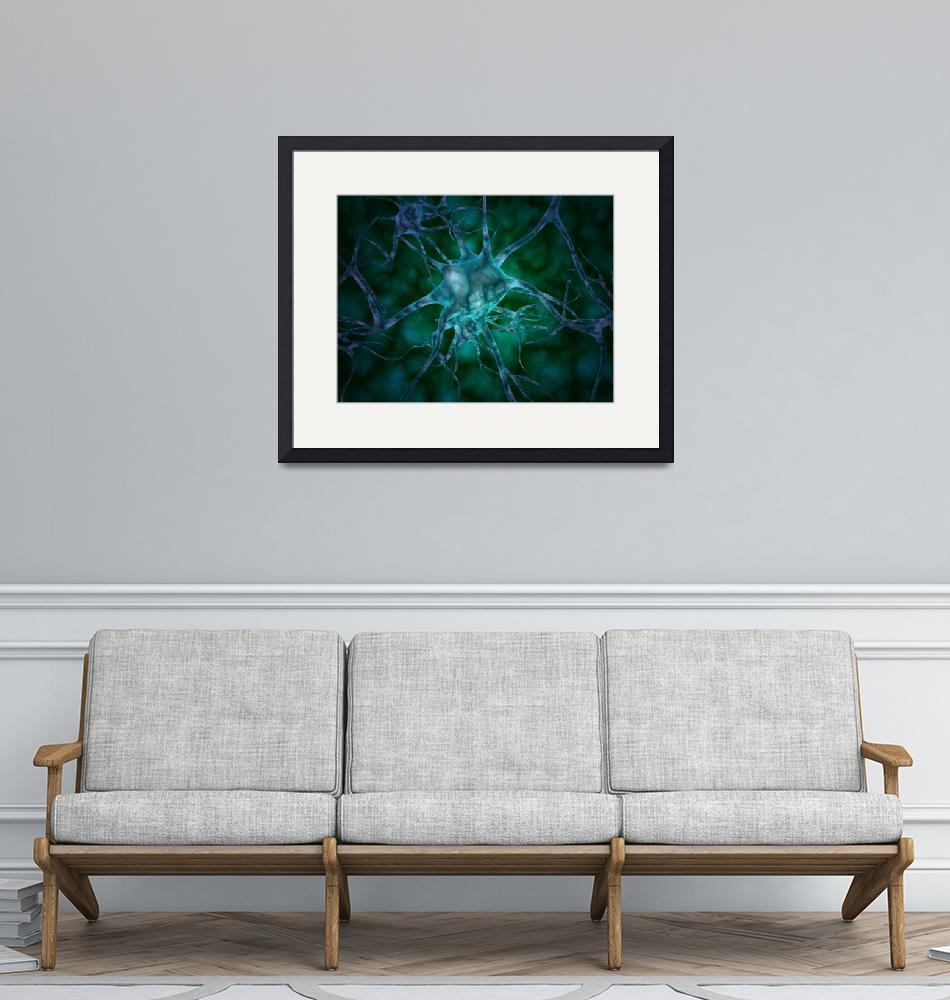 """""""Microscopic view of multiple nerve cells, known as""""  by stocktrekimages"""
